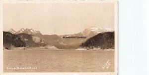 WASHINGTON LAKE KEECHELUS-EARLY 1900'S  RPPC REAL PHOTO POSTCARD
