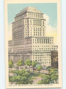 Unused 1930's SUN LIFE ASSURANCE COMPANY BUILDING Montreal Quebec QC G1521