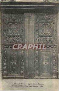Old Postcard Rouen 45 church saint maclou portal western jean stud
