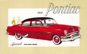 1954 Pontiac Special 2 Door Sedan Advertising Postcard