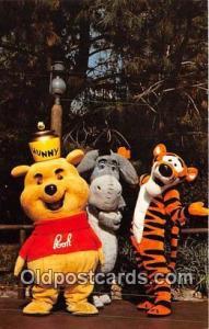 Hunny Bunch, Pooh, Eeyore & Tigger Disneyland, Anaheim, CA, USA Postcard Post...