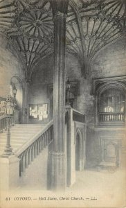 Vintage Postcard, OXFORD, Hall Stairs, Christ Church by Louis Levy 7Z