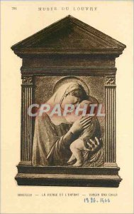 Postcard Donatello Old Virgin and Child Louvre Museum