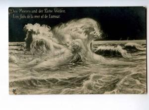 244334 Night STORM KISS of Wave NUDE MERMAID Death Vintage PC