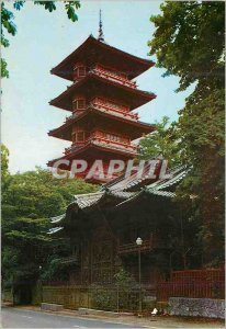 Postcard Modern Brussels Japanese tower from the Paris Exhibition (1900) Japa...