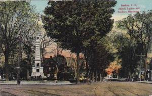 New Hampshire Nashua Abbott Square and Soldier Monument 1911