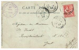 9253  France paris Postmarked Eiffel Tour