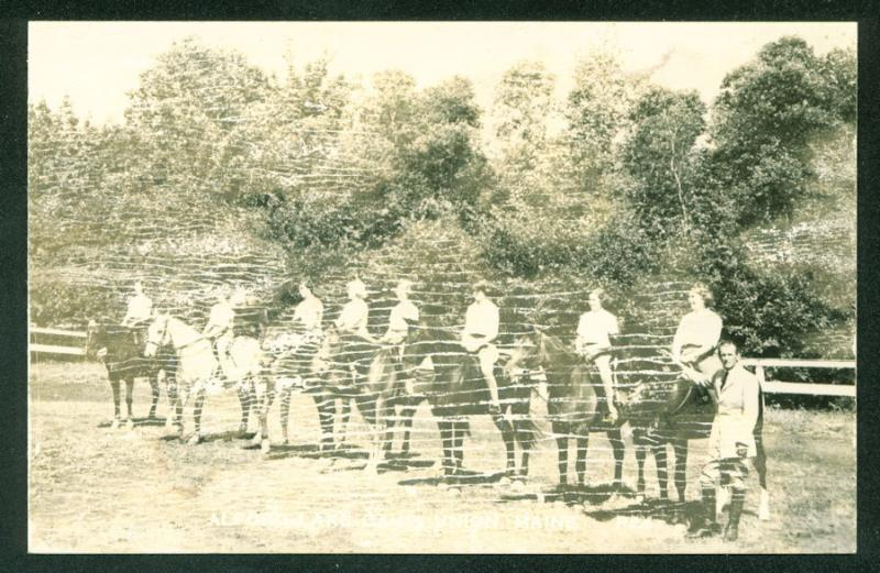 Alford Lake Camp Union All Girls Camp Hope Maine Real Photo RPPC Postcard