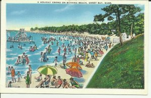Onset Bay, Mass., A Holiday Crowd On Bathing Beach