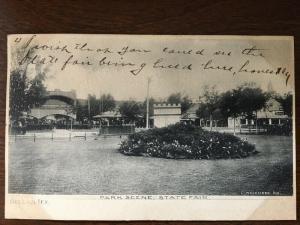1907 Park Scene, State Fair, Dallas, Texas TX d19