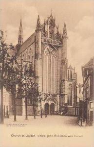 Massachusetts Plymouth The Church At Leyden Where John Robinson Was Buried Al...