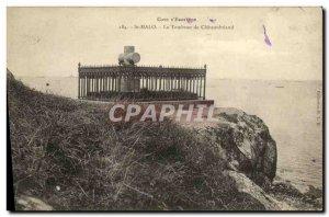 Old Postcard Saint Malo Le Tombeau de Chateaubriand