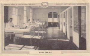 ST. PAUL , Minnesota , 10-30s; Boys Ward , Shriners Hospital , Crippled Children