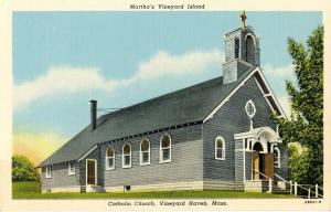 MA - Martha's Vineyard Island. Vineyard Haven. Catholic Church