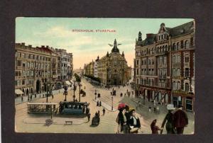 Sweden Stockholm Stureplan Automat Trolley Cars Carte Postale Brefkort Postcard