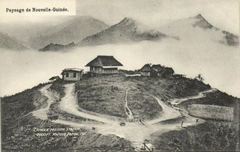 papua new guinea, MAFULU, Catholic Mission Station (1911)