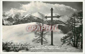 Modern Postcard Winter Resort Beuil Valberg Le Massif Raton seen the chapel o...