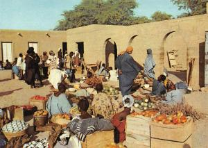Mali Kabara Marche Market Place Postcard
