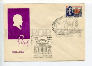297807 USSR 1960 year writer Anton Chekhov silhouette COVER