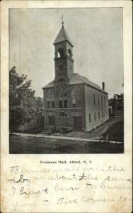 Alfred NY Firemens Hall Fire Station c1905 Postcard