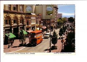 Government Street, Victoria, British Columbia, Double Decker Bus