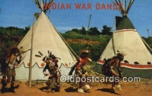 Indian War Dance Indian Postcard, Post Card Indian City, USA Indian War Dance