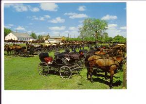 Mennonity Meeting House, Horses and Buggied, Kitchener-Waterloo, Ontario, Pho...