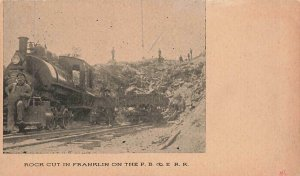 Heisler Loco Engine PB & E RR Pittsburgh Binghamton Erie Railroad VTG Postcard
