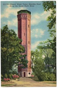 Chicago, Historic Water Tower, Sheridan Road Along The Scenic North Shore