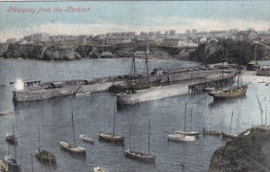 NEWQUAY, Cornwall, England, PU-1906; Newquay From The Harbour