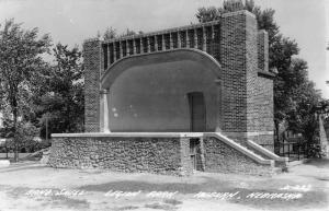 Auburn Nebraska Legion Park Band Shell Real Photo Antique Postcard K15883