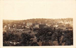 Neosho MO~Panorama~RR Tracks~Ed Haas Wholesale Grocer~Miller Produce~1920s RPPC
