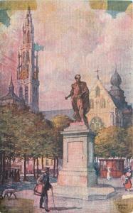 Anvers/Antwerp Belgium~Le Statue de PP Rubens~Statue of Rubens- Painter 1910