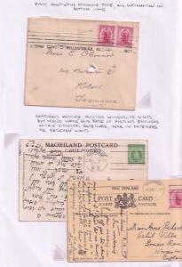 Maoriland Postcard Historic New Zealand Frank Launch WW1 3x Postcard s