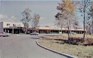 Terrace Bay Ontario~The Shopping Plaza~LL Clover Farm~Food Market~1950s Cars