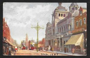 High Street Town Hall Ilford London England used c1907
