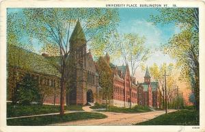 Burlington Vermont~Dirt Road Past University Place~1929 Postcard
