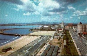 California Long Beach Looking West On Ocean Boulevard