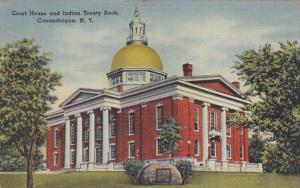 New York Canandaigua Court HOuse and Indian Treaty Rock 1953