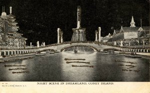NY - Coney Island. Night Scene in Dreamland  (glitter)