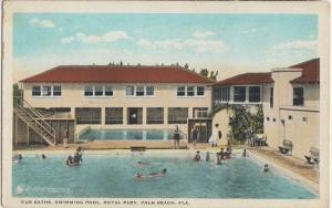 PALM BEACH FL - GUS BATH'S - SWIMMING POOL at Worth Ave 1910s era DEMOLISHED