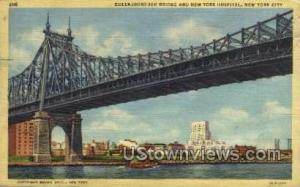 Queensboro Bridge New York City NY 1943