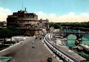 Italy Roma Rome Sant'Angelo Bridge and Castle