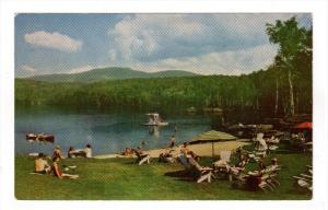 ST. JOVITE, Province of Quebec, Canada; The beach at Gray Rocks Inn, Lac Ouim...