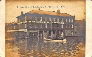 West Bridgewater PA Mulheim Carpet & Wall Paper 1907 Flood Real Photo Postcard