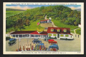 Bills Place Top of Rays Hill Lincoln Highway PA Used c1953