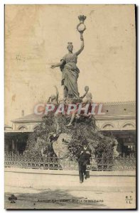 Old Postcard Statue of Liberty Vichy
