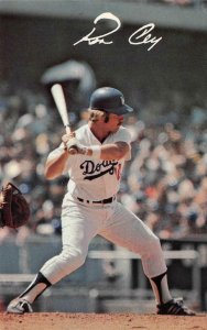 RON CEY Los Angeles Dodgers Baseball Game Sports c1970s Vintage Postcard