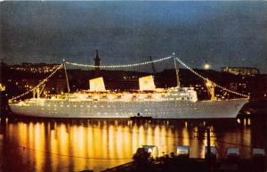 M.S. Gripsholm, Swedish American Line  Lighted at Night