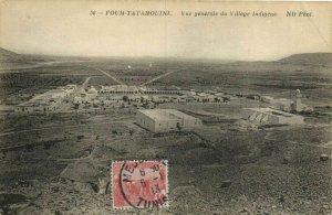 CPA AK TUNISIE FOUM TATAHOUINI Vue générale du Village Indigene (153243)